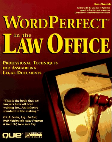 9780789706133: Wordperfect in the Law Office (Business Computer Library)