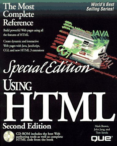 Using Html: Special Edition (Special Edition Using): Mark Brown, John Jung, Bill Brandon, Robert ...
