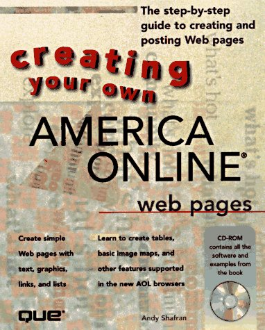 9780789709011: Creating Your Own Aol Web Pages