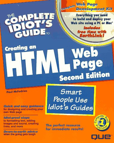 9780789711465: The Complete Idiots Guide to Creating an HTML Web Page; With CDROM