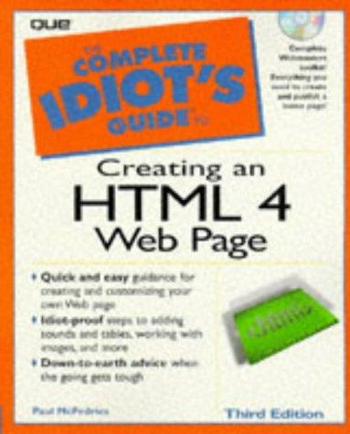 9780789714909: Complete Idiot's Guide To Creating An HTML 4 Web Page (The Complete Idiot's Guide)