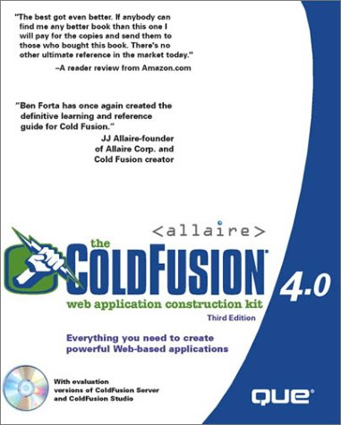 9780789718099: The ColdFusion 4.0 Web Application Construction Kit