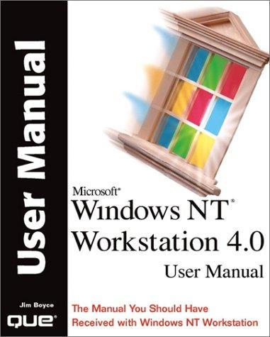 9780789719546: Windows NT Workstation 4.0 User Manual