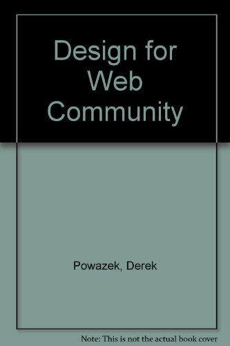 9780789725066: Design for Web Community