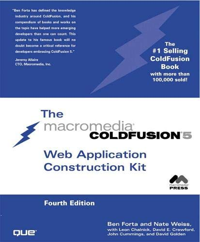 9780789725844: ColdFusion 5 Web Application Construction Kit (4th Edition)