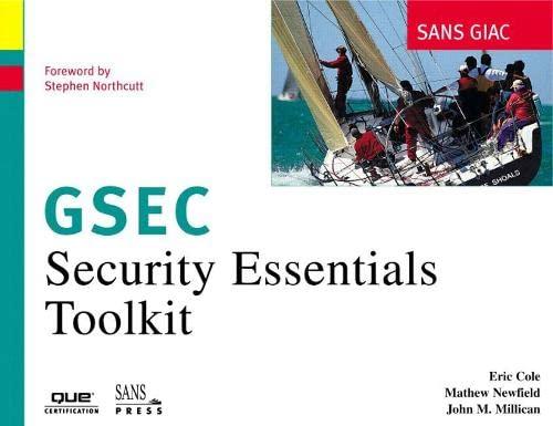 9780789727749: SANS GIAC Certification: Security Essentials Toolkit (GSEC)