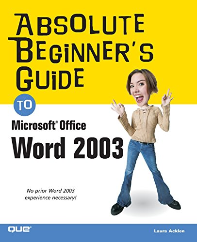 9780789729705: Absolute Beginner's Guide to Microsoft Office Word 2003