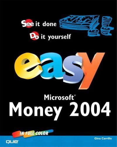 9780789730701: Easy Microsoft Money 2004