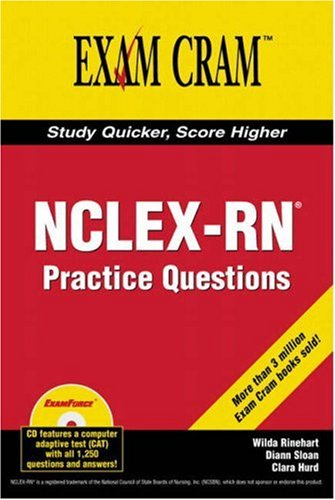 9780789732682: NCLEX-RN Exam Practice Questions Exam Cram