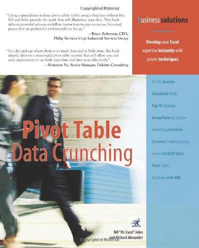9780789734358: Pivot Table Data Crunching
