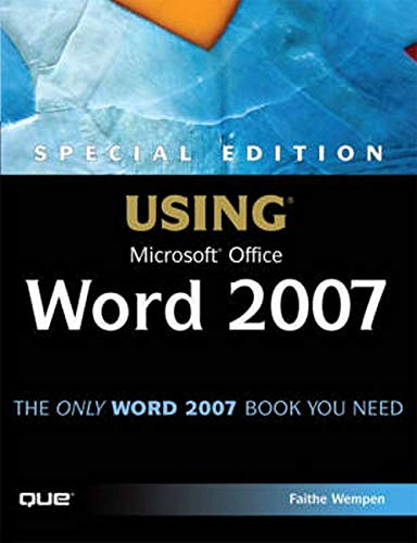 9780789736086: Special Edition Using Microsoft Office Word 2007