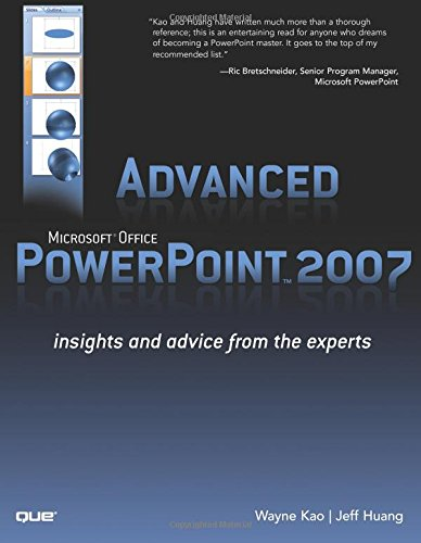 9780789737243: Advanced Microsoft Office PowerPoint 2007: Insights and Advice from the Experts