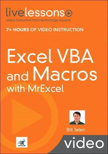 9780789739384: Excel VBA and Macros with MrExcel LiveLessons (video Training) (Live Lessons Book & DVD)