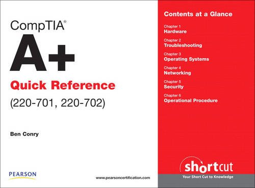 9780789742889: CompTIA A+ Quick Reference (220-701, 220-702)