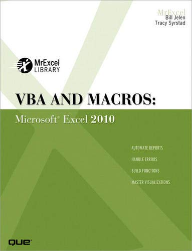 9780789743145: VBA and Macros: Microsoft Excel 2010 (Mrexcel Library)