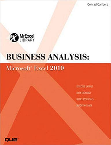 9780789743176: Business Analysis: Microsoft Excel 2010 (Mrexcel Library)