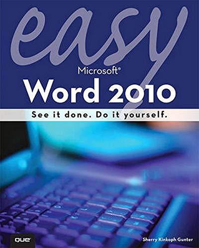 9780789743299: Easy Microsoft Word 2010