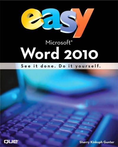 9780789743749: Easy Microsoft Word 2010 (UK Edition)