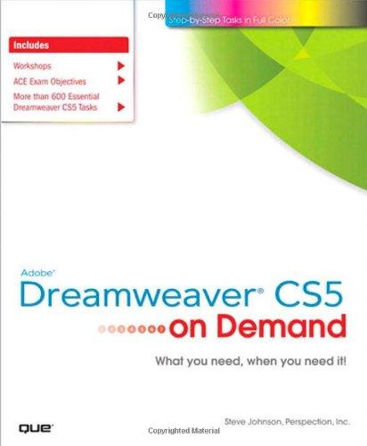 9780789744449: Adobe Dreamweaver CS5 on Demand