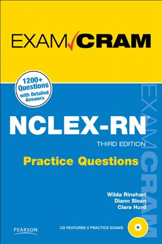 9780789744838: NCLEX-RN Practice Questions Exam Cram (3rd Edition)