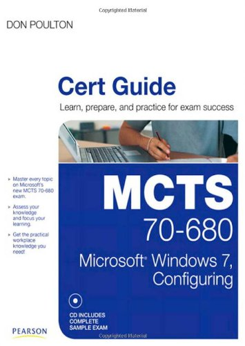 9780789747075: MCTS 70-680 Cert Guide: Microsoft Windows 7, Configuring (Certification Guide)