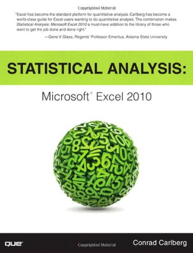 9780789747204: Statistical Analysis: Microsoft Excel 2010