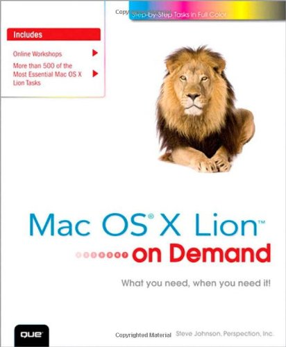 Mac OS X Lion on Demand (2nd: Steve Johnson, Perspection