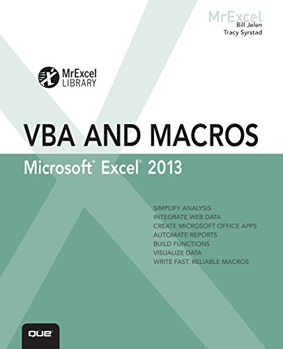 9780789748614: Excel 2013 VBA and Macros