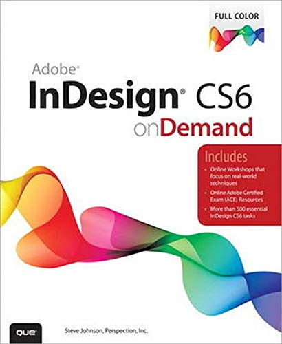 9780789749345: Adobe InDesign CS6 on Demand