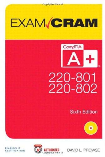 9780789749710: Comptia A+ 220-801 and 220-802 Exam Cram