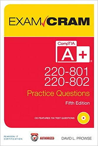 9780789749741: Comptia A+ 220-801 and 220-802 Authorized Practice Questions Exam Cram