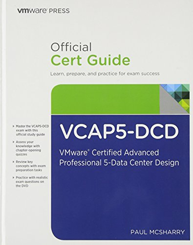9780789750181: VCAP5-DCD Official Cert Guide (with DVD): VMware Certified Advanced Professional 5 - Data Center Design (VMware Press Certification)