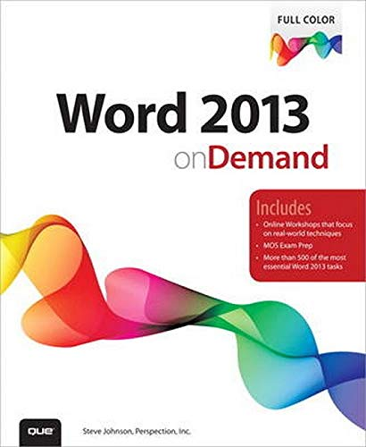9780789750501: Word 2013 on Demand