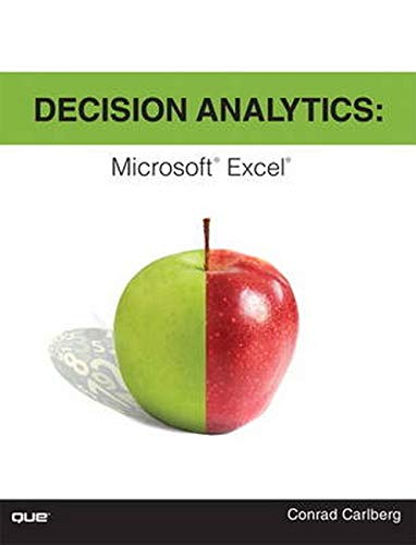 9780789751683: Decision Analytics: Microsoft Excel