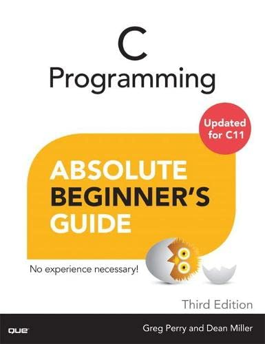 9780789751980: C Programming Absolute Beginner's Guide