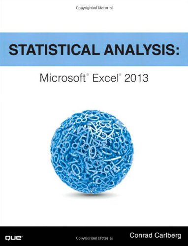 9780789753113: Statistical Analysis: Microsoft Excel 2013