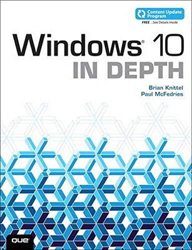 9780789754745: Windows 10 In Depth (includes Content Update Program)