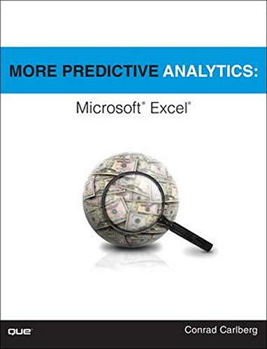 9780789756145: More Predictive Analytics: Microsoft Excel
