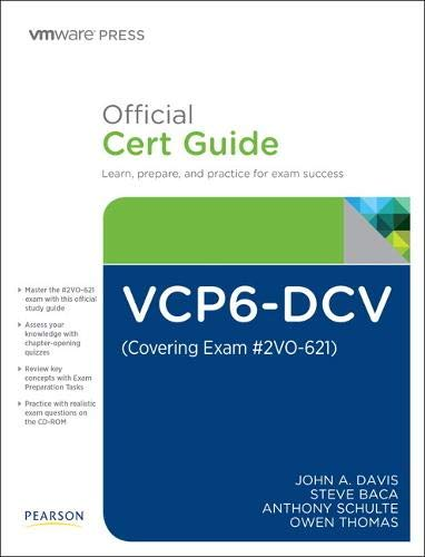 9780789756480: VCP6-DCV Official Cert Guide (Covering Exam #2VO-621) (Vmware Press Certification)