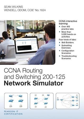 9780789757760: CCNA Routing and Switching 200-125 Network Simulator