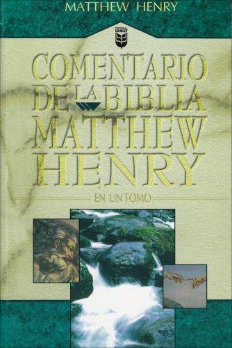 9780789905406: Commentario de la Biblia Matthew Henry: En un Tomo