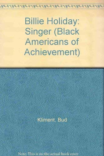 9780791002414: Billie Holiday (Black Americans of Achievement)