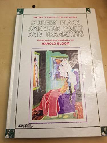 Modern Black American Poets and Dramatists (Writers: Bloom, Harold