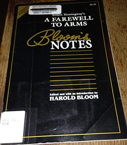 9780791040874: Ernest Hemingway's a Farewell to Arms (Bloom's Notes)