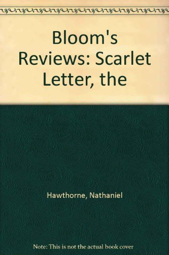 Nathaniel Hawthornes the Scarlet Letter by Harold Bloom AbeBooks