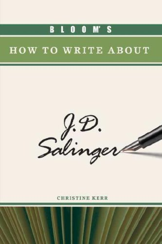 Bloom's How to Write about J.D. Salinger