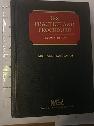 9780791306802: IRS Practice and Procedure (Tax Series)