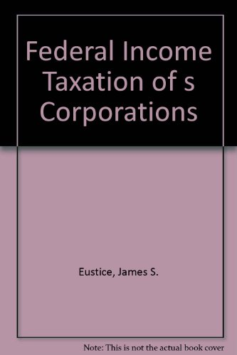 9780791314579: Federal Income Taxation of s Corporations (Tax series)