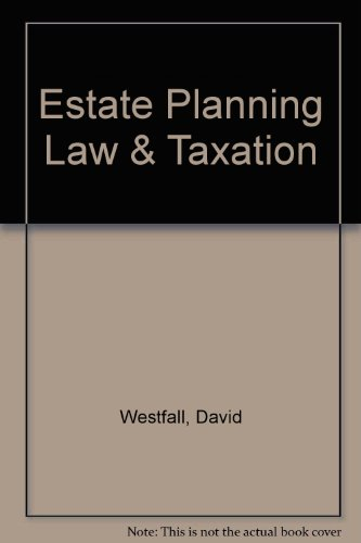 9780791320099: Estate Planning Law & Taxation