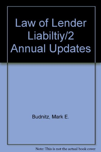 9780791320839: Law of Lender Liabiltiy/2 Annual Updates